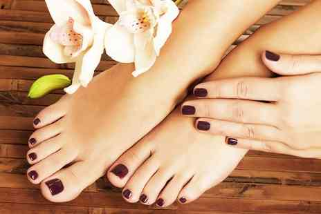 Blush Nails - Gelish Manicure, Pedicure or Both - Save 0%