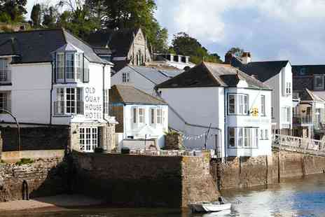 The Old Quay House Hotel - Overnight Boutique Cornwall Stay with Meals & Bubbly - Save 48%