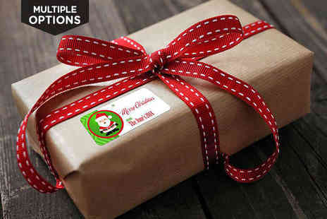 Festive Christmas Labels - Personalised Christmas Gift Labels - Save 67%