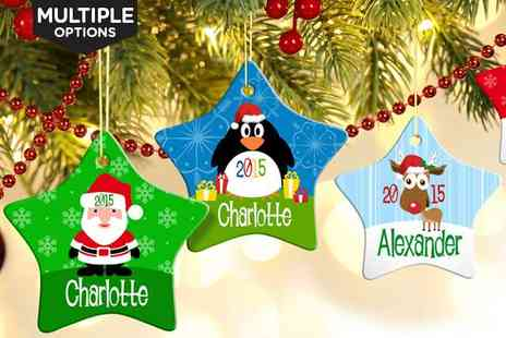 Christmas Ornament Printed - Personalised Christmas Star Ornament - Save 67%
