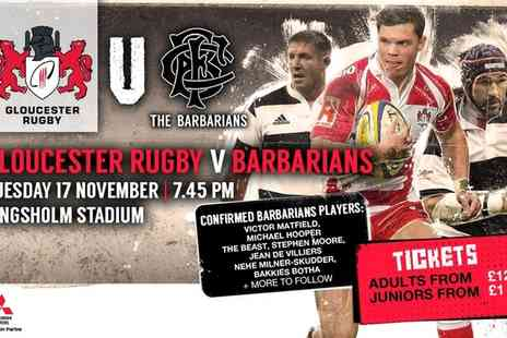Barbarians -  Ticket  to Barbarians v Gloucester Rugby - Save 36%