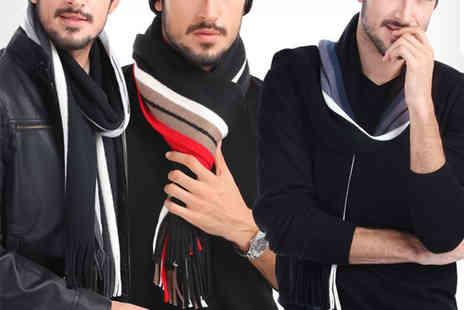 Uniquely Zero - Stylish mens wool scarf in a choice of colours - Save 76%