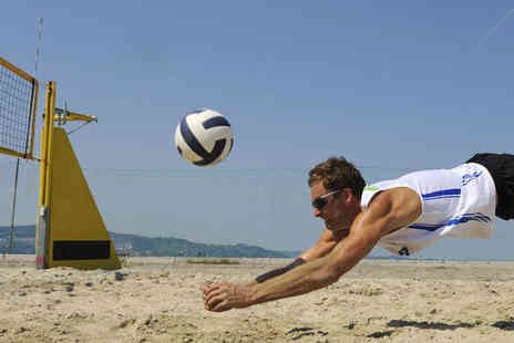 Beach Volleyball School - Three Hour Introductory Beach Volleyball Experience for One - Save 43%