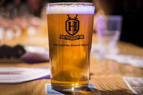 Hamelsworde Brewery - Beer Tasting Session with Pie and a Souvenir Pint Glass for One  - Save 47%