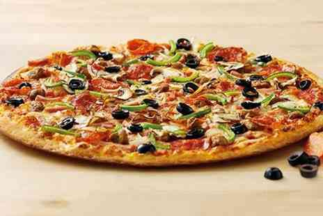 Papa Johns -  Any Large or Create Your Own Pizza with Two Sides and a Soft Drink  - Save 55%