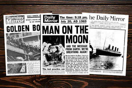 Historical Newspaper Headlines - Newspaper Front Page Reprints from History - Save 50%