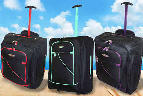 Trendy Look - Cabin Approved Hand Luggage Wheelie Suitcase - Save 77%
