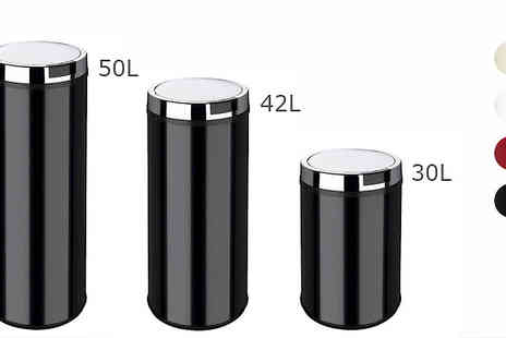 To Your Home - Stainless Steel Round Sensor Bin 30L 42L or 50L - Save 73%