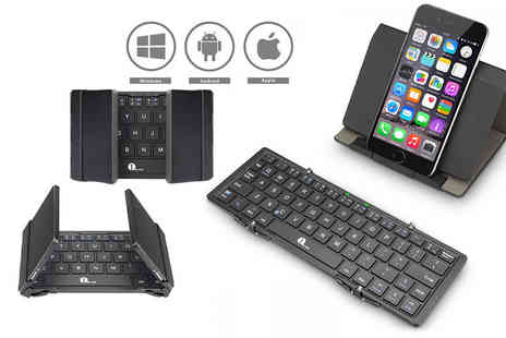 1 By One - Wireless Bluetooth keyboard with touchpad - Save 63%