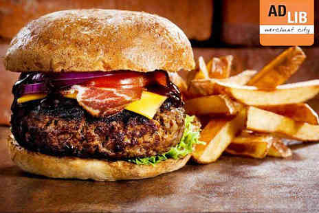 Ad Lib - Burger and Fries for Two  - Save 56%