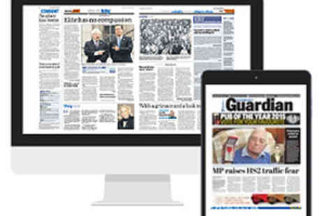 Johnston Press Plc - Six month subscription to the Banbury Guardian e edition - Save 36%