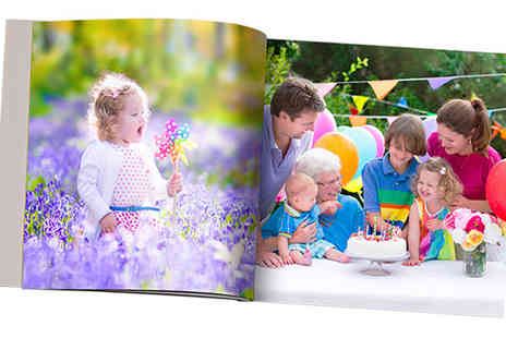 "Dip Into - Personalized Hardcover 11x8"" Photobook - Save 82%"