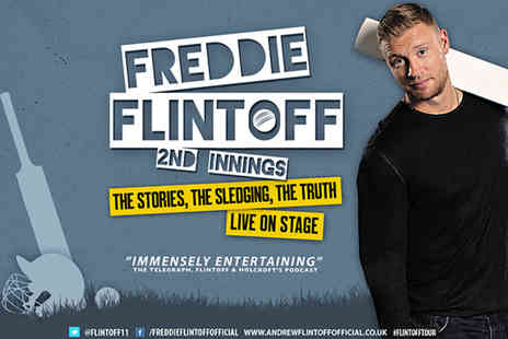 Freddie Flintoff Second Innings  -  Ticket to Freddie Flintoffs 2nd Innings Tour on 8th Oct in Newcastle or 5th Nov in Harrogate - Save 44%