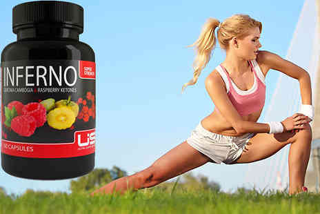 Ultra Supplements  - 3 Months Supply of Inferno Super Strength Raspberry and Garcinia Capsules - Save 89%