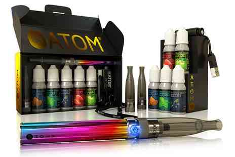 WE ARE TECHNOLOGY - 10 Piece Atom Fusion E Cigarette 5 Week Quit Kit With Free Delivery - Save 64%