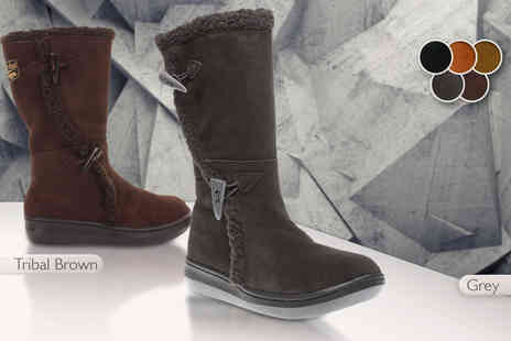 Brand Shopping Direct - Pair of womens Rocket Dog suede and fur winter boots - Save 65%