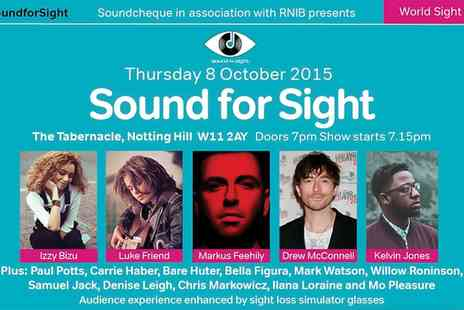 RNIB - One Ticket to Soundcheque and RNIB present Sound for Sight 2015  - Save 36%