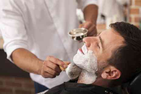 Cutaway - Mens Haircut with Wash and Blow-Dry, Beard Wet Shave or Trim - Save 40%