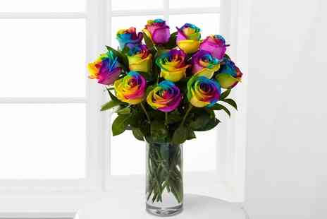 Flowers Delivery 4 U - 6 Rainbow Roses Bouquet - Save 55%