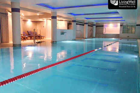 Livingwell Hilton Hotel Cardiff - Day Leisure Pass for Two with Towel Hire - Save 58%