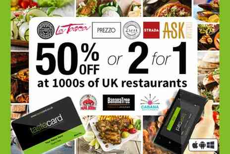 Taste Marketing   - Tastecard 12 Month Membership - Save 56%