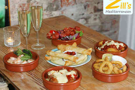 Zills Mediterranean - Six Sharing Plates for Two with Glass of Prosecco Each - Save 54%