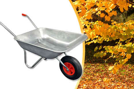 Plus Bee - 65L Galvanised Metal Wheelbarrow and Wheelbarrow Booster - Save 62%