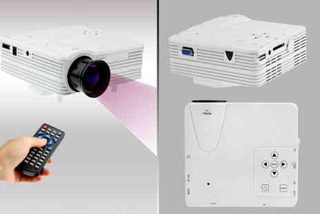 Eurosfield Maptrak  - Portable LED projector in white  - Save 60%