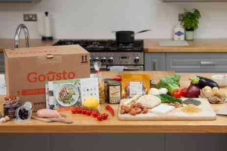 Gousto - £30 or £50 Towards a Choice of Food Products Plus Delivery - Save 60%