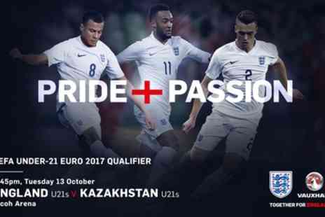 The Face -T icket to UEFA U21 Qualifier: England v Kazakhstan on Tuesday 13 October - Save 50%