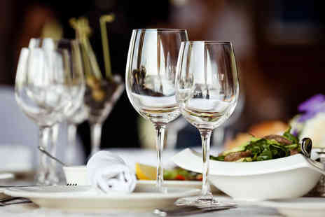 Hilton Liverpool Hotel - Luxury Two Course Meal with Champagne for Two - Save 41%