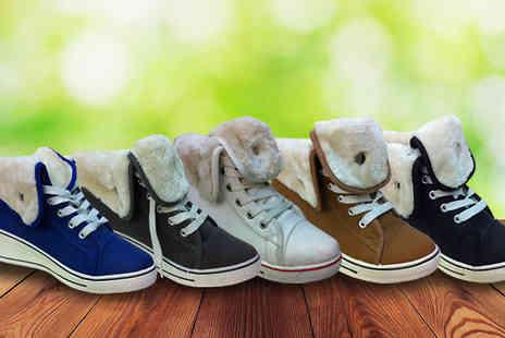 Topnotch Fashion Designer - Faux Fur Lined High Top Trainers - Save 85%