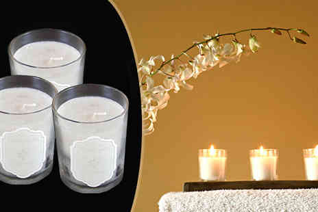 CheekyBox - Three Scented Candles - Save 52%