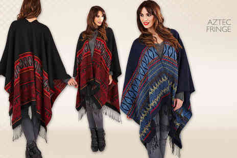 Kurt Muller - Stylish knitted wrap in a choice of four on trend designs - Save 35%