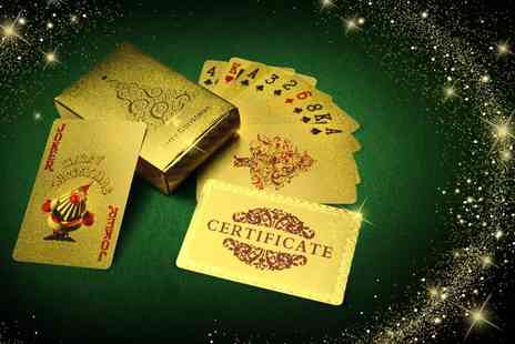 Merchtopia - Gold or silver plated playing cards - Save 87%