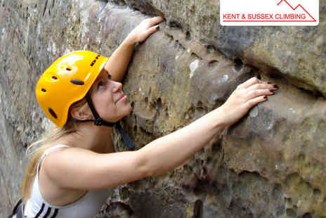 Kent and Sussex Climbing - Four Hour Introduction to Outdoor Climbing for One - Save 52%