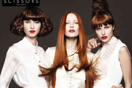 Scissors Salons   - Haircut Blow Dry and  Ultimate Luxury Conditioning Treatment - Save 66%