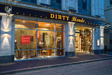 Dirty Blonde - Three Course Meal and Cocktail Each for Two - Save 55%
