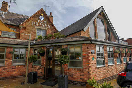 Tom Browns - Two Course Meal with a Glass of Prosecco Each for Two - Save 0%