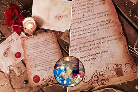 Lapland Letters and Scrolls - Personalised Santa letter with a packet of magical reindeer food Plus Delivery Included  - Save 50%