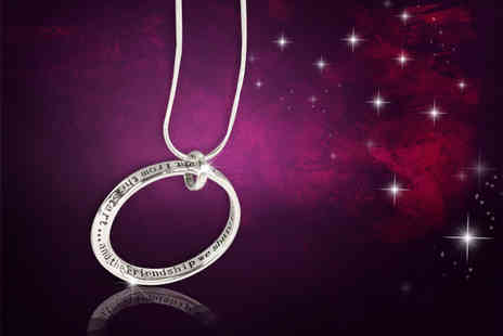 Jewelian - Inspirational quote open circle pendant  - Save 84%