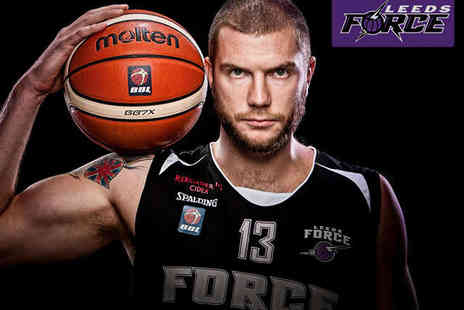 Leeds Force Basketball - Leeds Force v Plymouth Raiders Basketball Game - Save 41%