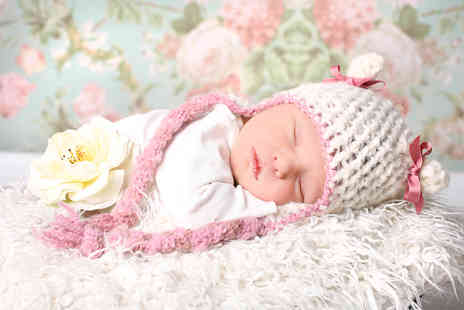 Studio 24 - Newborn, baby cake smash or childrens superhero or princess photoshoot including two images on CD - Save 94%