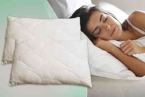 Sleep Solutions - Two memory foam flake pillows - Save 60%