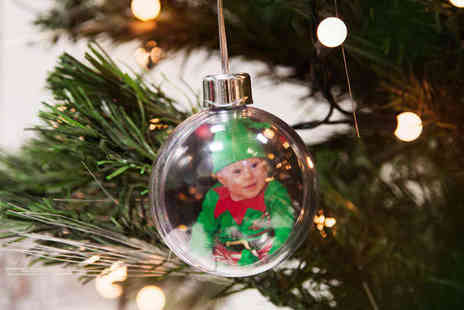 Printmy photo - One Personalised Photo Christmas Baubles - Save 64%
