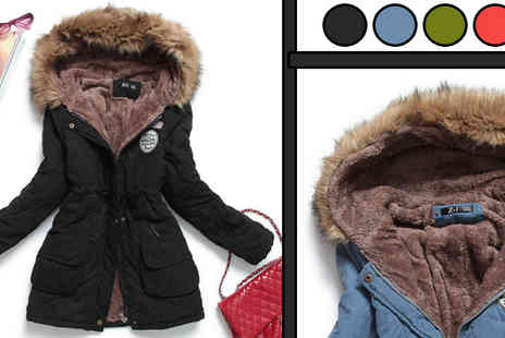 HK J and Y International Trading - Womens Luxurious Fur Lined Parka Coat - Save 56%