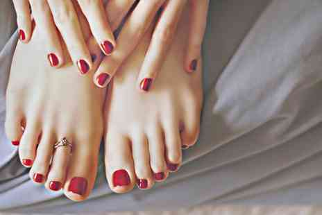 Nikki at Revitalise Rejuvenate -  Shellac File and Polish of Fingernails or Toenails  - Save 48%