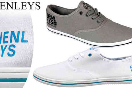 by public demand - Henleys Mens Bevan Canvas Pumps - Save 56%