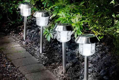 Shop Monk - Stainless Steel Solar Lights - Save 85%