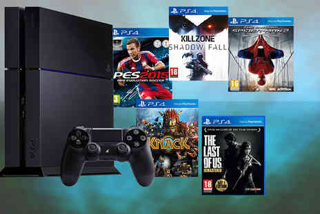 Wowcher Direct - Sony PlayStation 4 with a controller and two games  - Save 33%